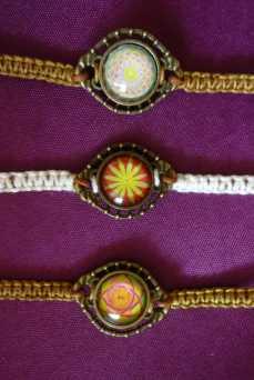 bracelets macramé coton
